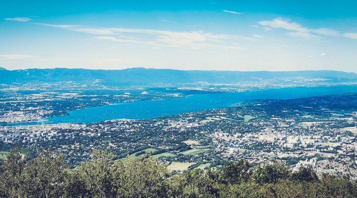 Vue du lac de Geneve